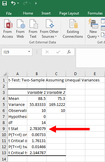 How to Perform a T-Test in Excel 10