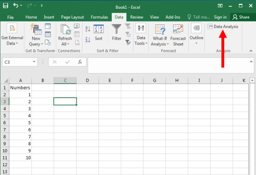 Descriptive Statistics in Excel - Figure 2