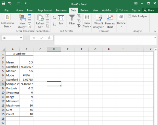 Descriptive Statistics in Excel Figure 7