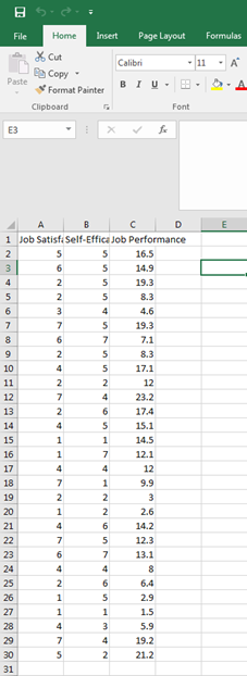Correlation in Excel 1