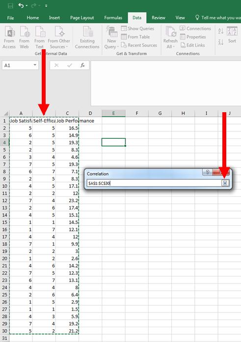 Correlation in Excel 5