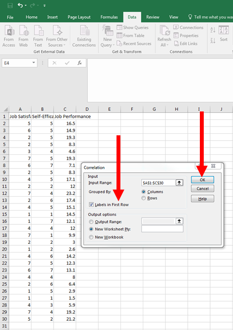 Correlation in Excel 6