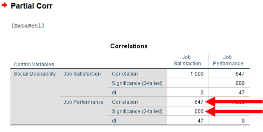 Partial Correlation in SPSS 8