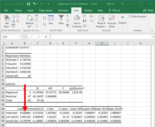 Regression in Excel 11