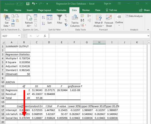 Regression in Excel 13