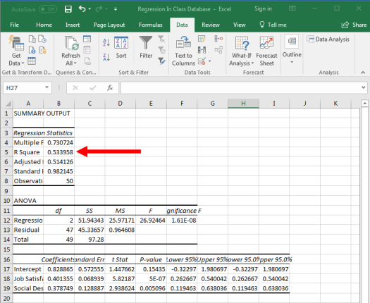 Regression in Excel 16