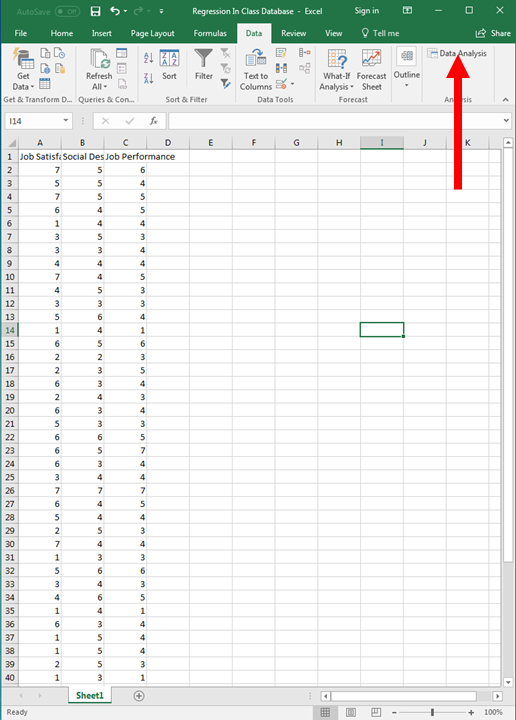 Regression in Excel 3