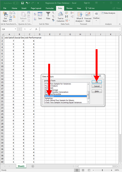 Regression in Excel 4