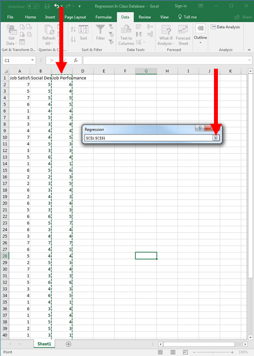 Regression in Excel 6