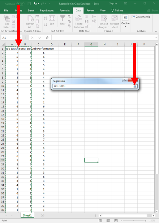 Regression in Excel 8