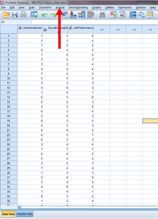 Regression in SPSS 2