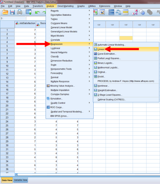 Regression in SPSS 3