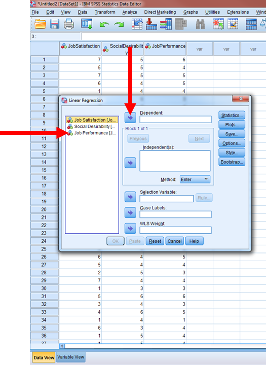 Regression in SPSS 5