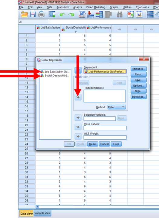Regression in SPSS 6