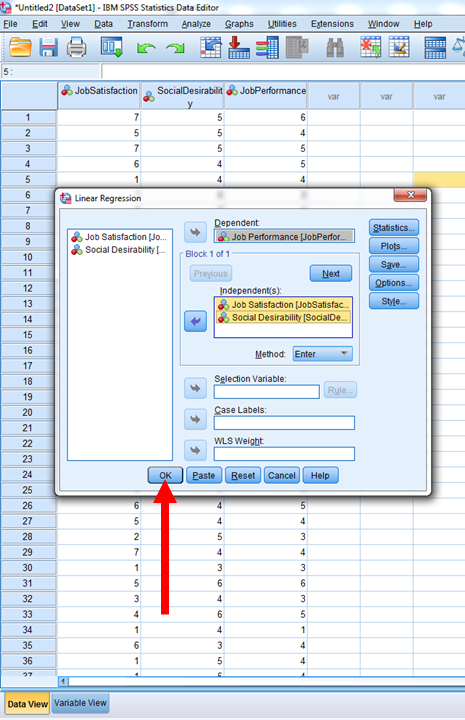 Regression in SPSS 7