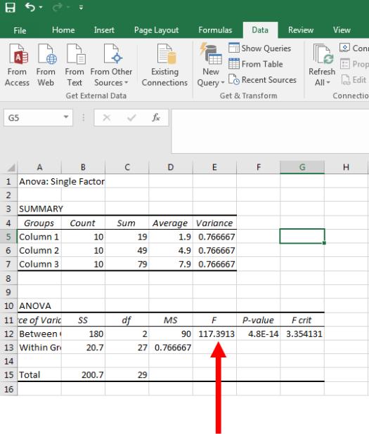 ANOVA in Excel 8