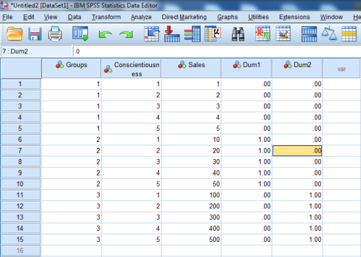 Dummy-Coded Regression in SPSS 19