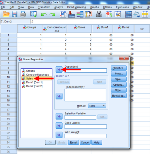 Dummy-Coded Regression in SPSS 21