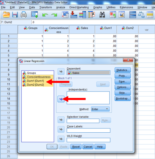 Dummy-Coded Regression in SPSS 22
