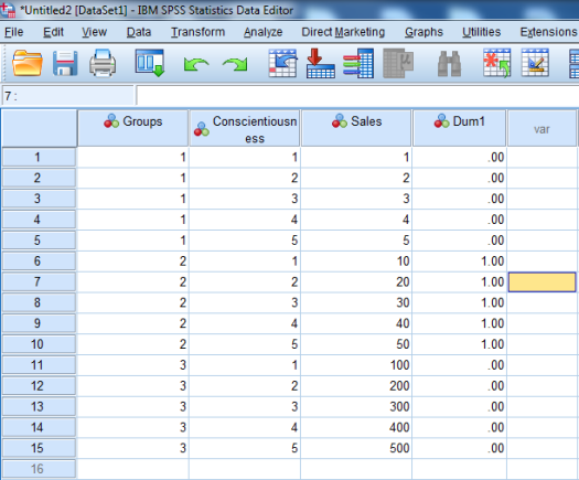 Dummy-Coded Regression in SPSS 9