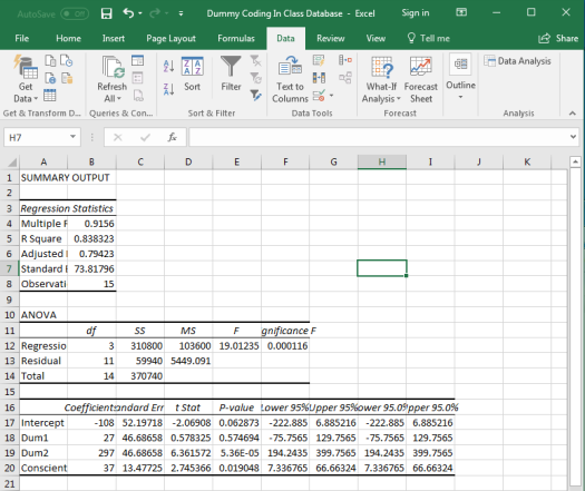 Dummy Coding in Excel 11