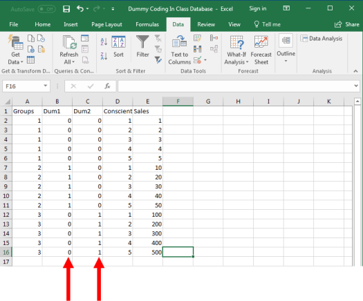Dummy Coding in Excel 3