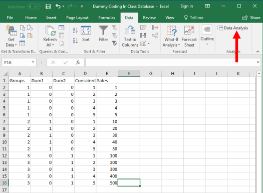 Dummy Coding in Excel 4