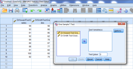 One-Sample T-Test in SPSS 3