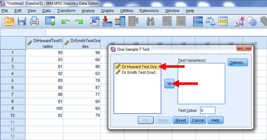 One-Sample T-Test in SPSS 3b