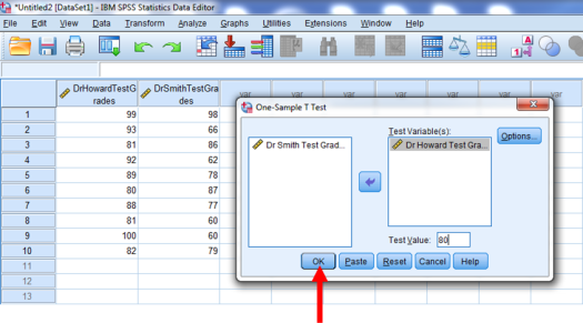 One-Sample T-Test in SPSS 5b
