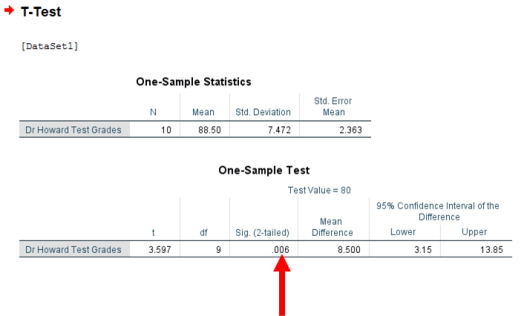 One-Sample T-Test in SPSS 6