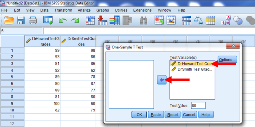 One-Sample T-Test in SPSS 9