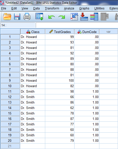 Two-Sample T-Test in SPSS 13