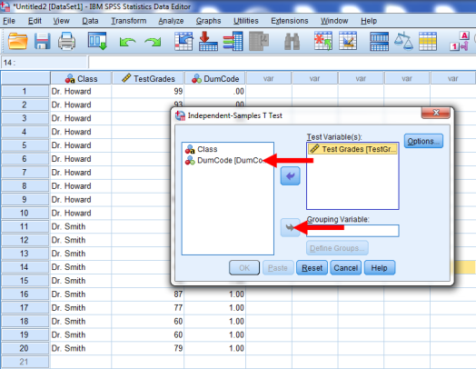 Two-Sample T-Test in SPSS 16