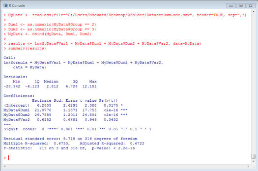 Dummy Coded Regression in R 6