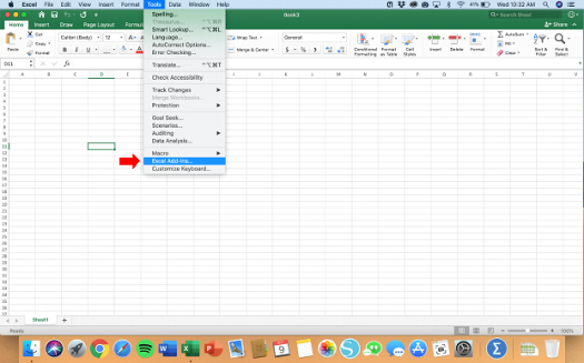 Activating Data Analysis for Mac - Step 2