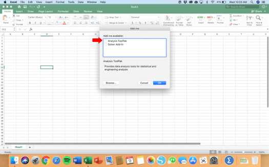 Activating Data Analysis for Mac - Step 3