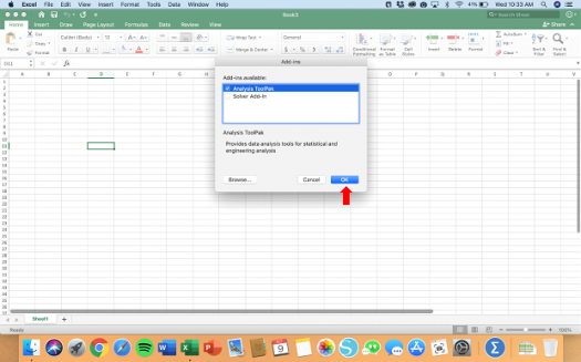 Activating Data Analysis for Mac - Step 4